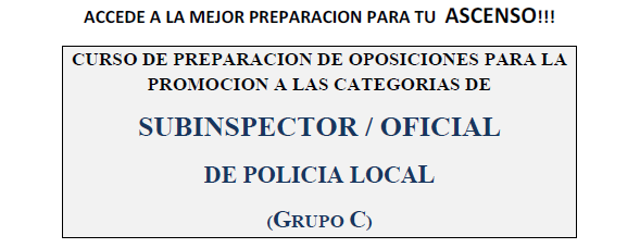 Cursos Online de ascenso Policía Local