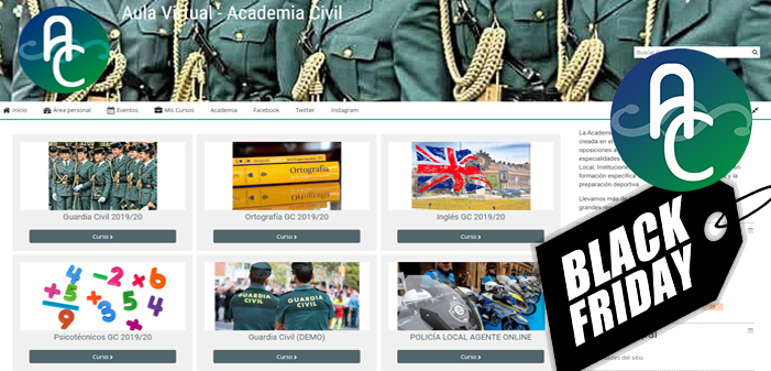 Black Friday – Preparación Guardia Civil 2019/20 y ascensos (25% DTO)