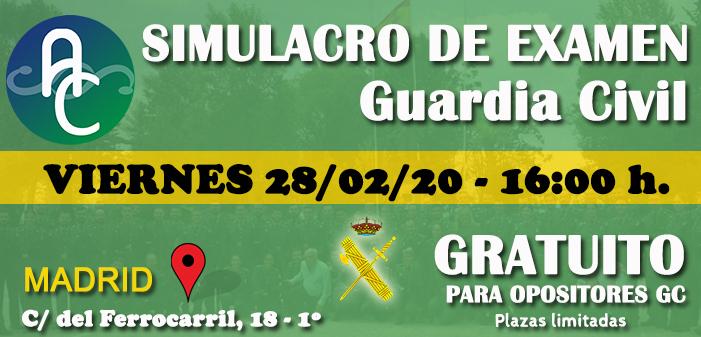 1º Simulacro de examen de GC Gratuito en nuestra sede de Madrid – 28/02/2020