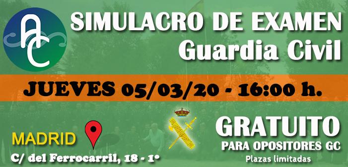 2º Simulacro de examen de GC Gratuito en nuestra sede de Madrid – 05/03/2020