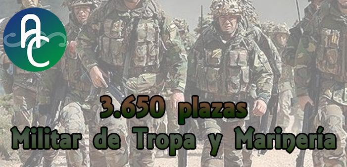 3.650 plazas – Militar de tropa y marinería