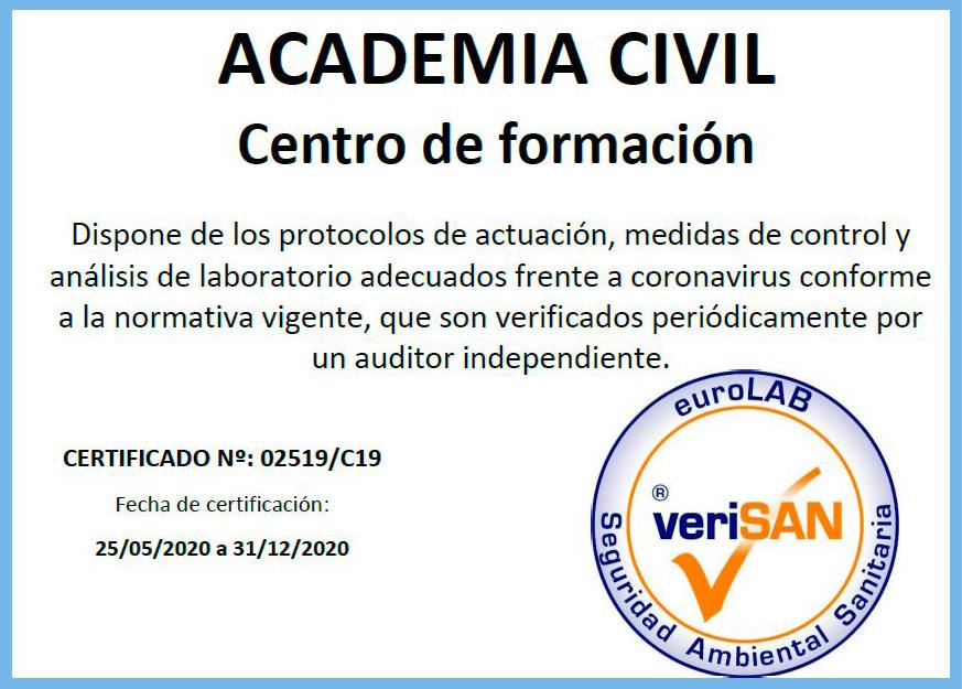 Certificación de las instalaciones COVID-19