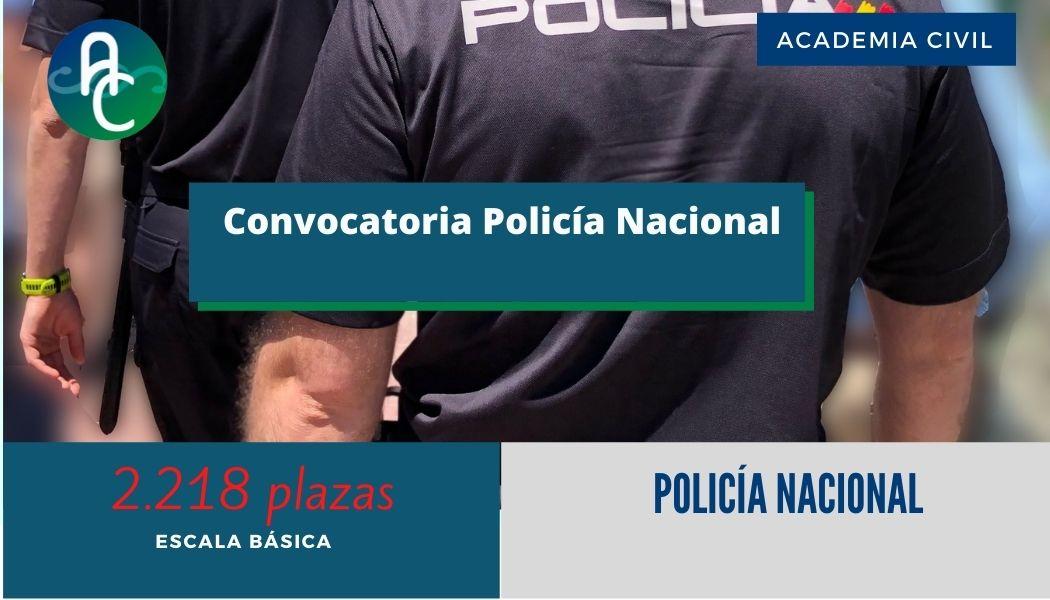 Policía Nacional – Convocatoria Escala Básica 2021